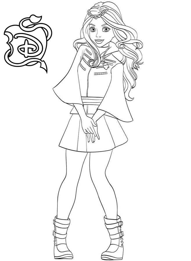 Evie Coloring Pages Coloring Home