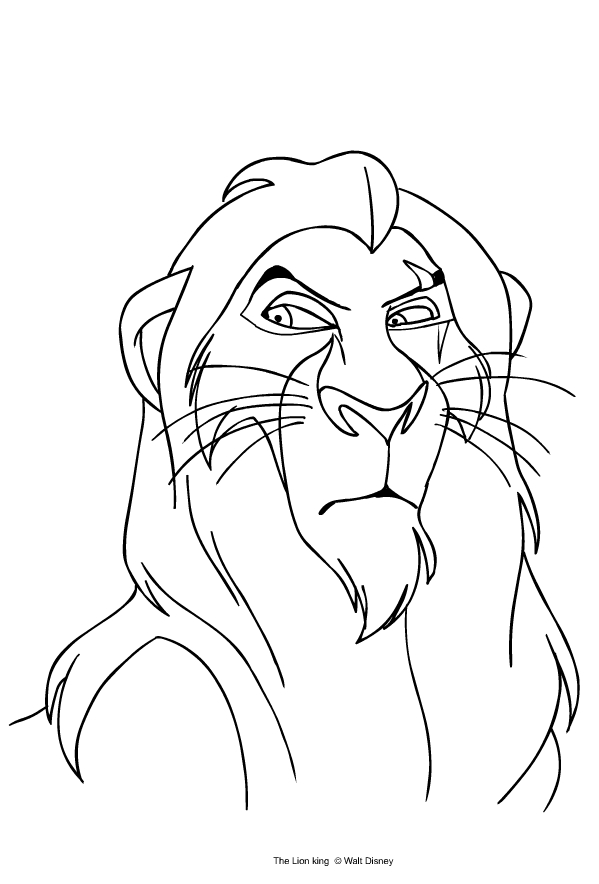 Scar From The Lion King Coloring Page Coloring Home