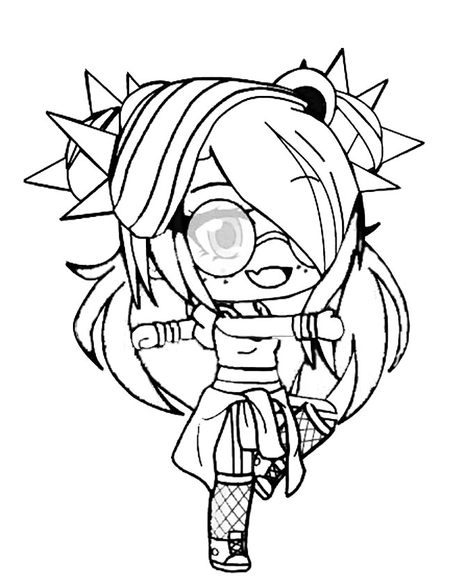 Gacha Club Coloring Pages - Coloring Home