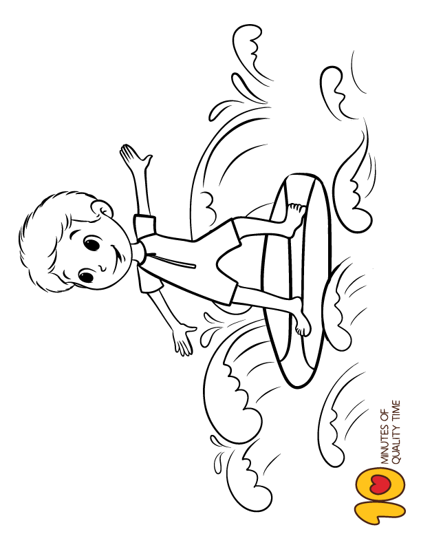 Surfing Boy Coloring Pages Coloring Home