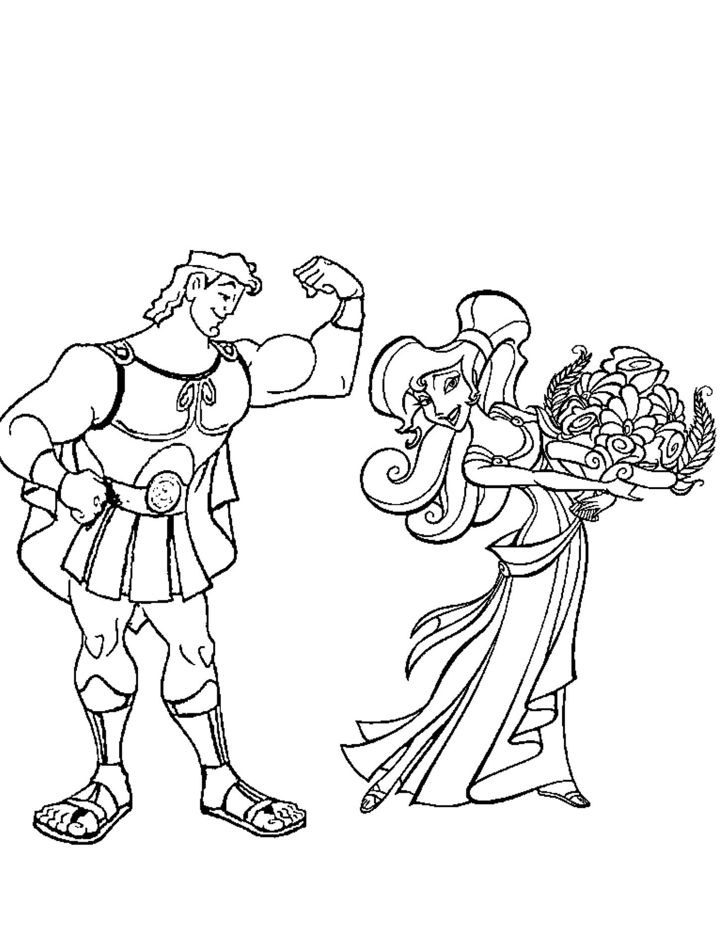 Disney Hercules Coloring Pages Home