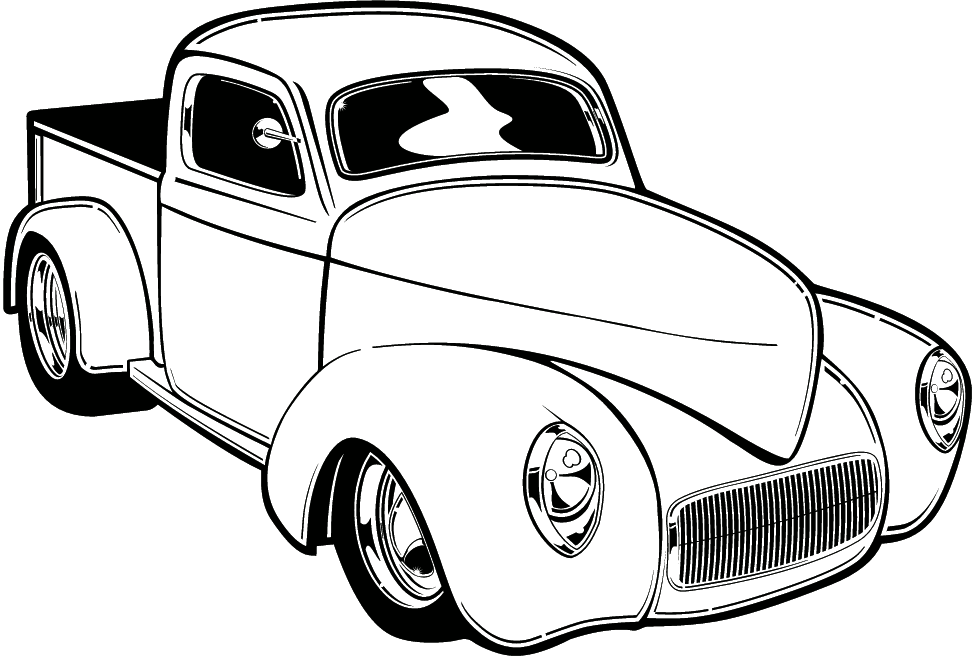 Hot Rod Coloring Pages Coloring Home