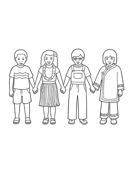 Children Around The World Coloring Page Coloring Home