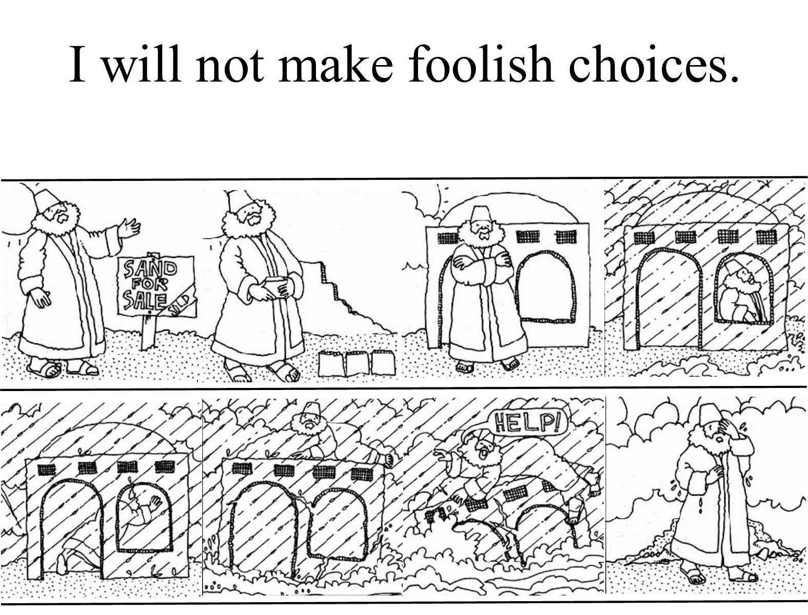 Free Coloring Pages: Parable Of The Talents Coloring Page | 1200x1575