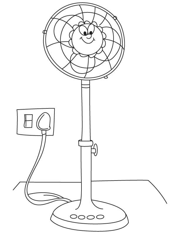 A Sketch Of A Electric Fan : Fan coloring page home