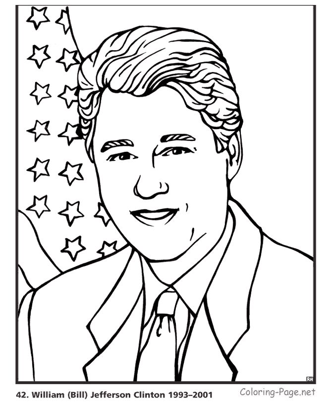 President Coloring Pages Coloring Home