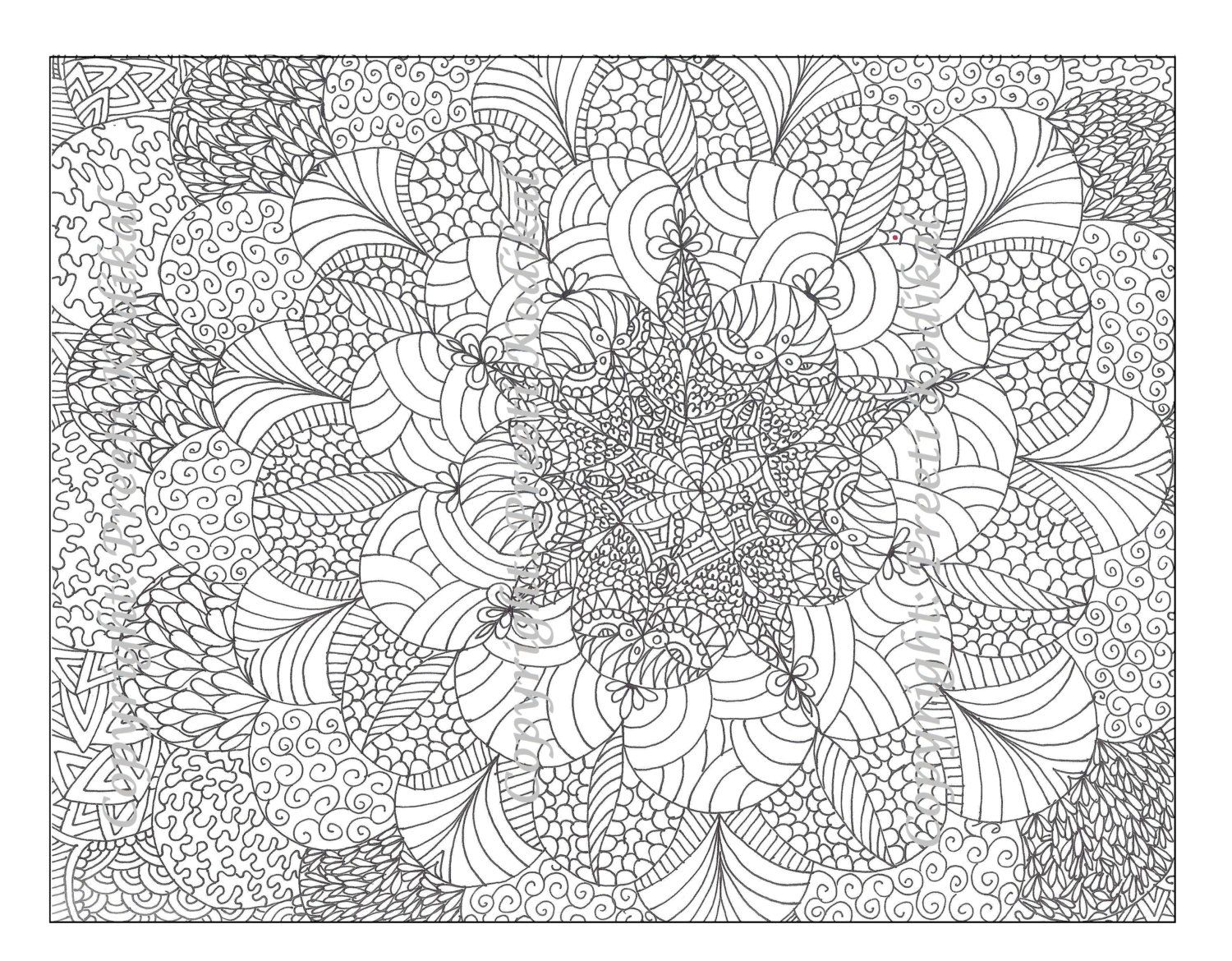 Difficult but Fun Coloring Pages Free and Printable | Mandala ... | 1170x1500