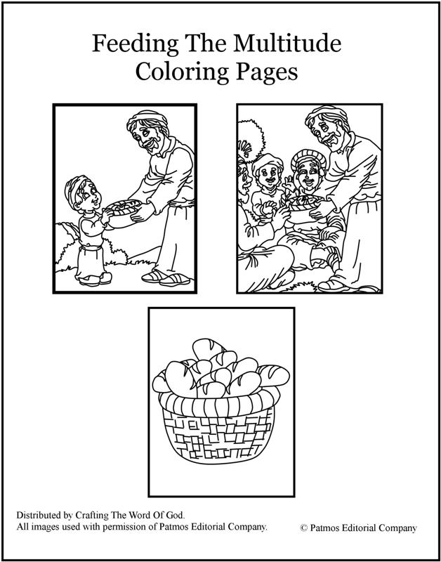 Jesus Fish Loaves Coloring Page Home
