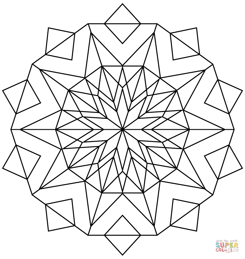 Kaleidoscope Coloring Page Coloring Home