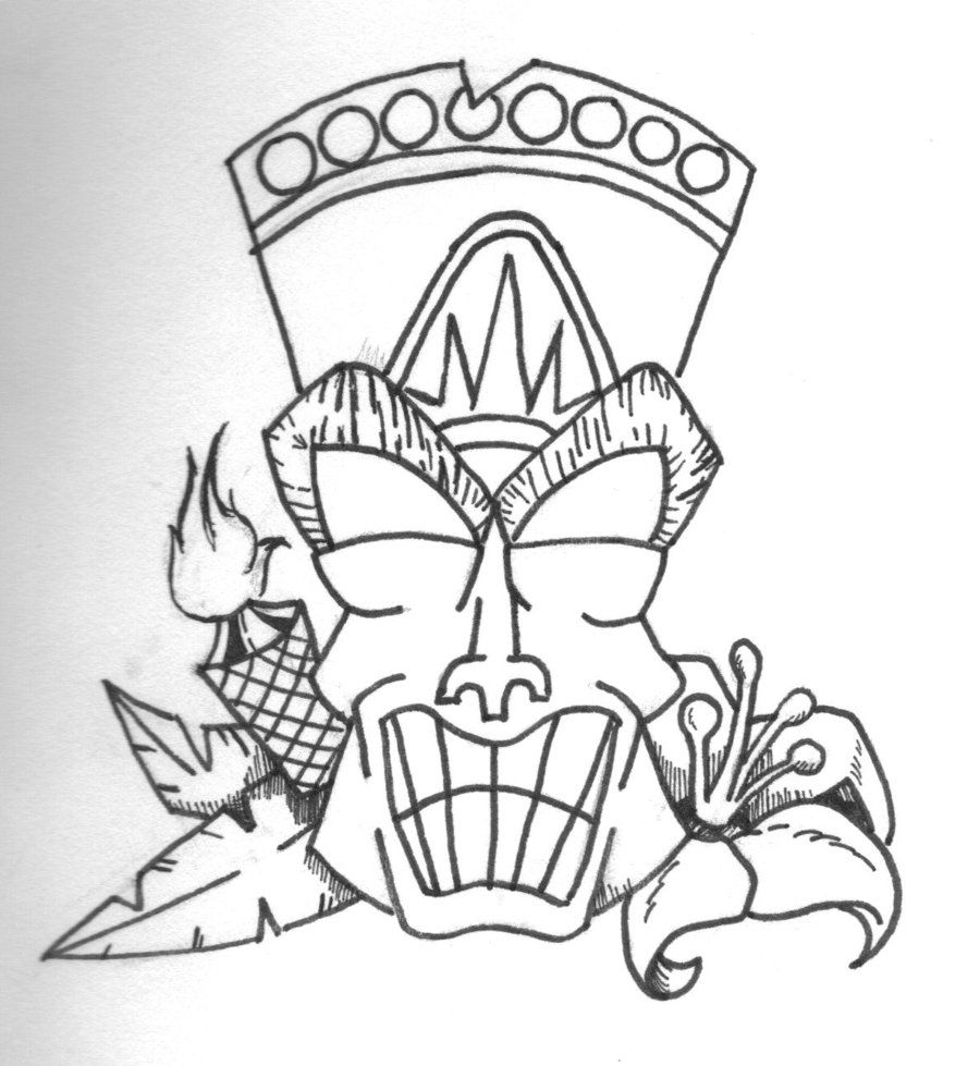 Tiki Mask Coloring Page Az Coloring Pages Tiki Coloring Pages