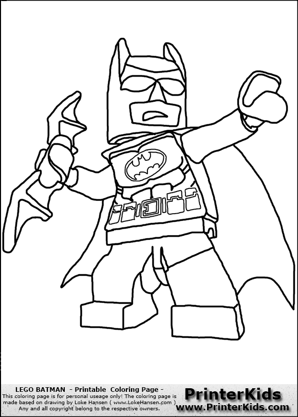 LEGO Batman Coloring Pages Printables