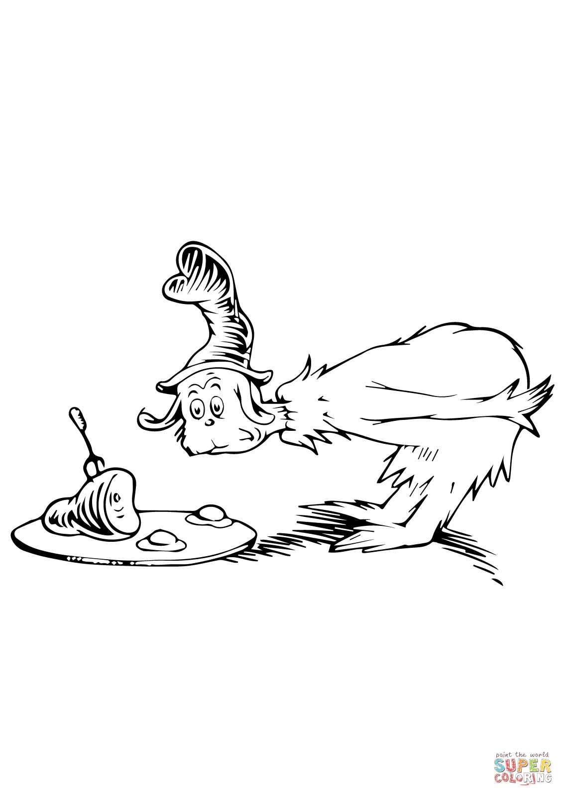 green eggs and ham coloring page coloring home