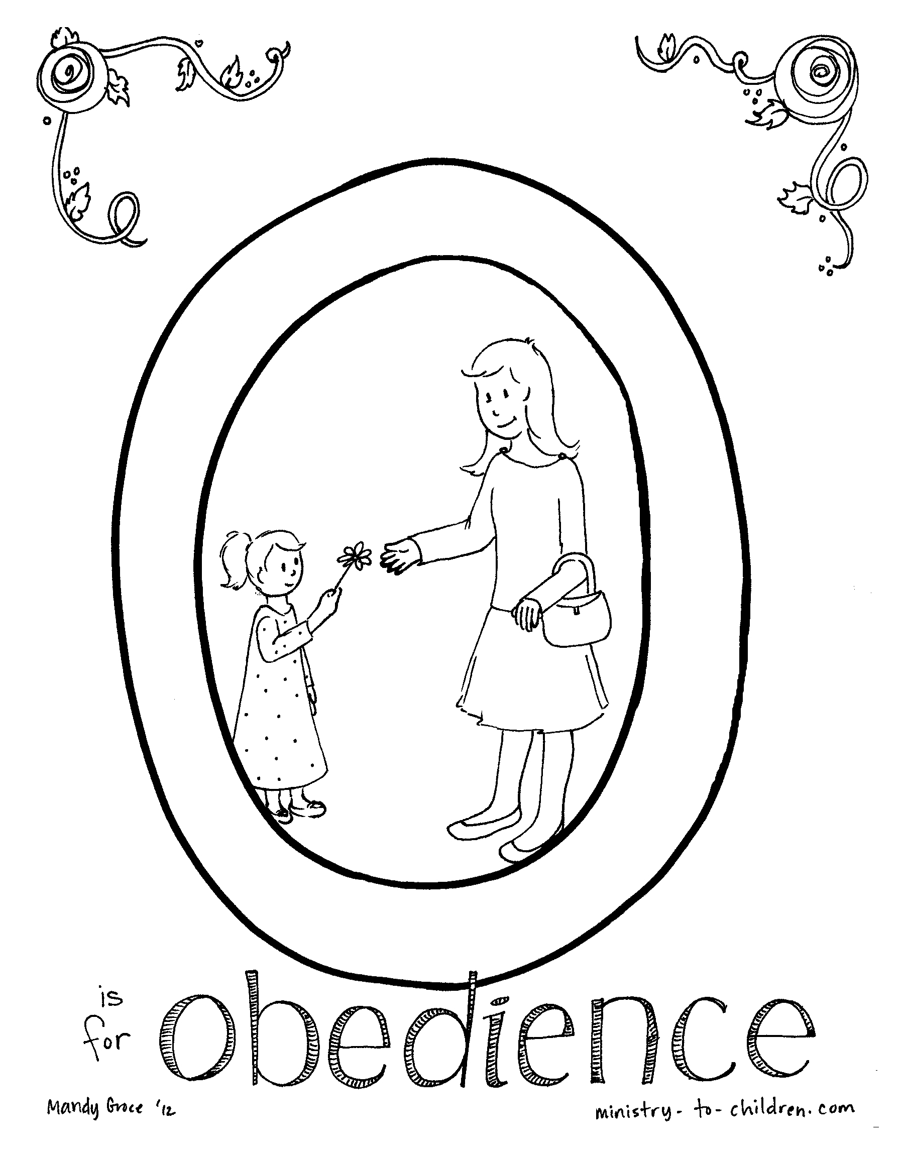 Obedience coloring page coloring home for Obey god coloring page