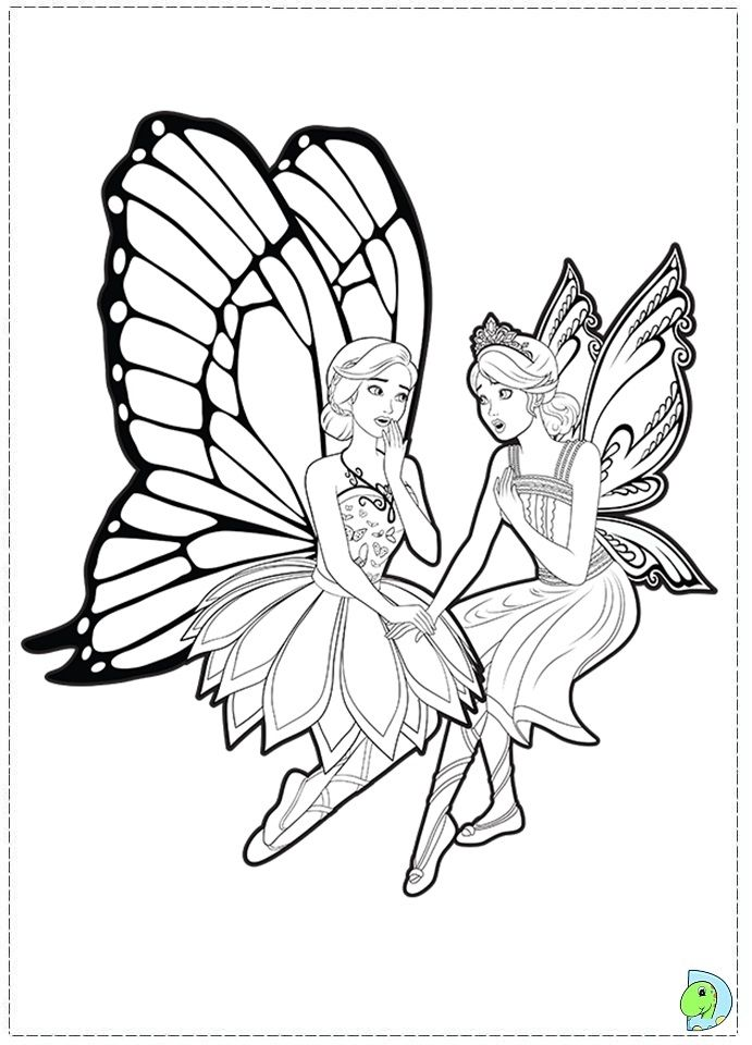 Mermaid Princess Fairy Coloring Page