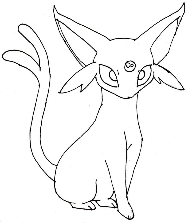 Espeon Coloring Pages Coloring