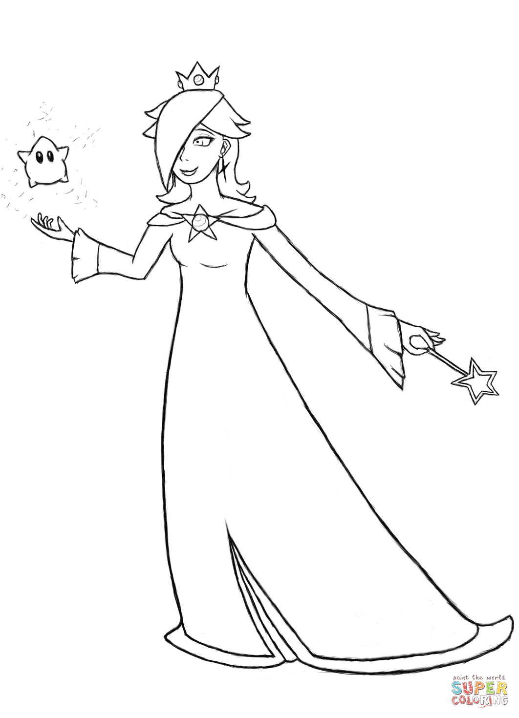 b u0026w coloring pages mario bros rosalina coloring home