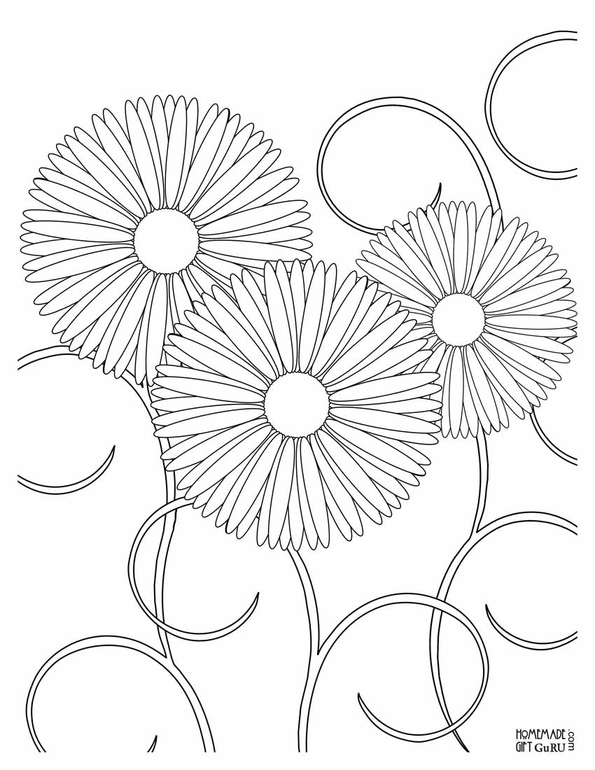 Flower coloring page - Pretty Flower Coloring Pages Printable Coloring Page For Kids