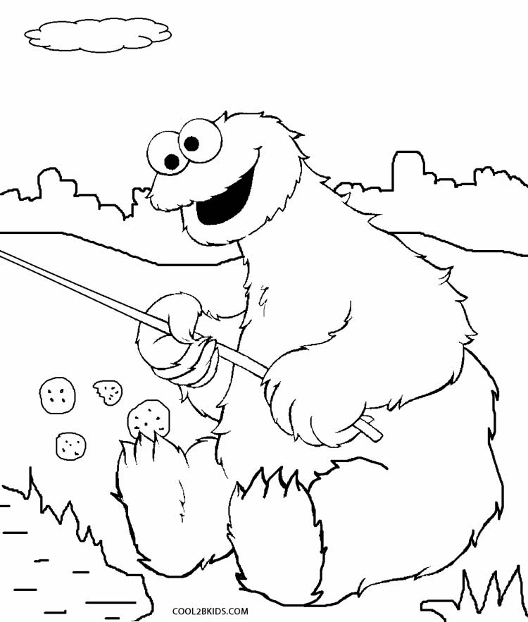 12 pics of printable coloring page of cookie monsters face - Cookie Monster Face Coloring Pages