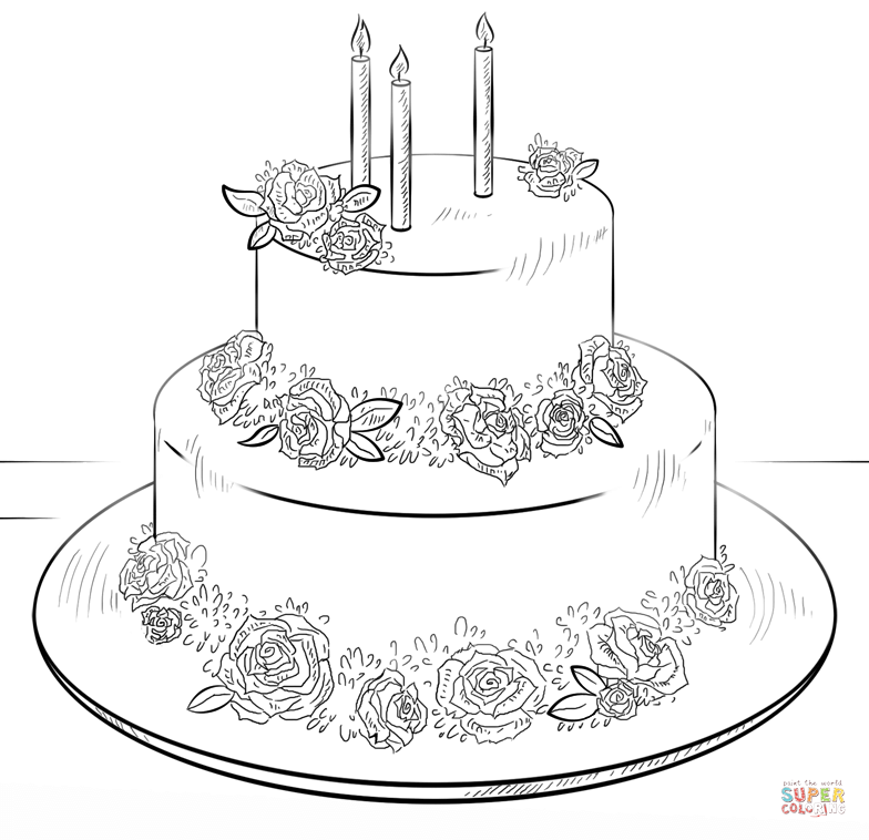 Birthday Cake Coloring Page Pdf