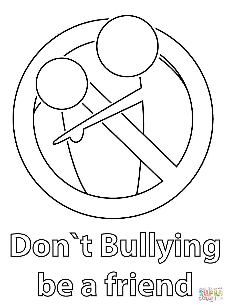bully free zone coloring pages - photo#20