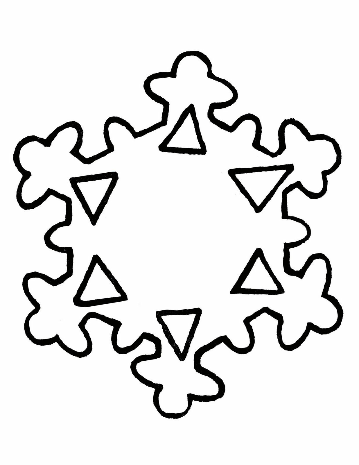 It's just a picture of Old Fashioned Snowflakes Print Out