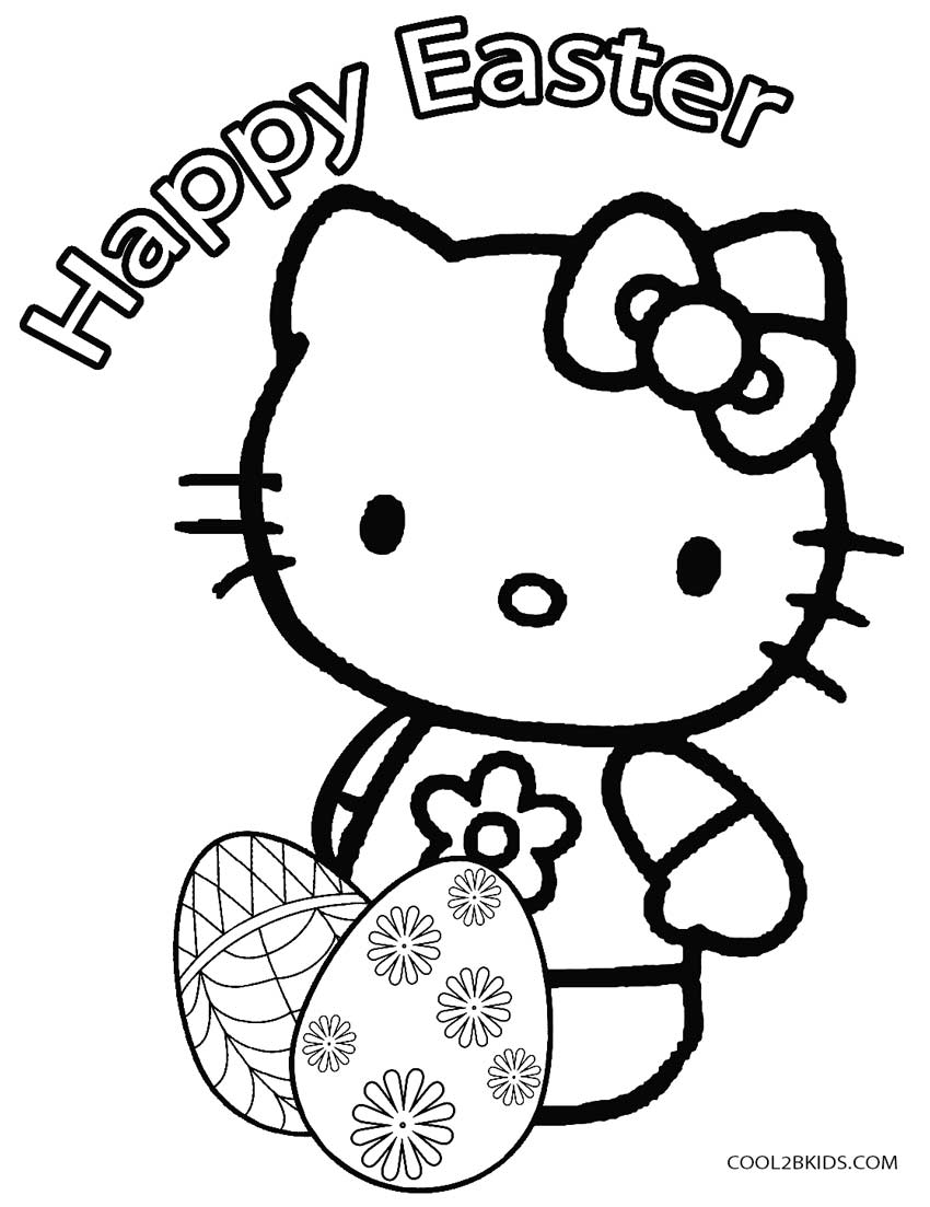Ausmalbilder Hello Kitty Ballerina : Hello Kitty Coloring Pages Easter Coloring Home