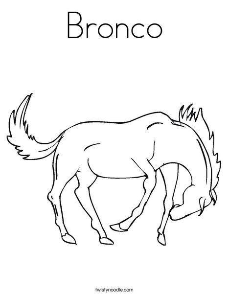 Bronco Coloring Page - Twisty Noodle