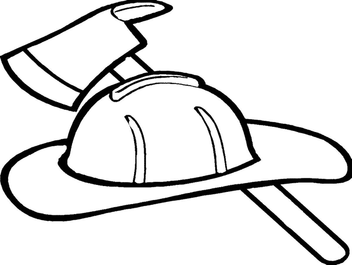 coloring pages of fire hats - photo#2
