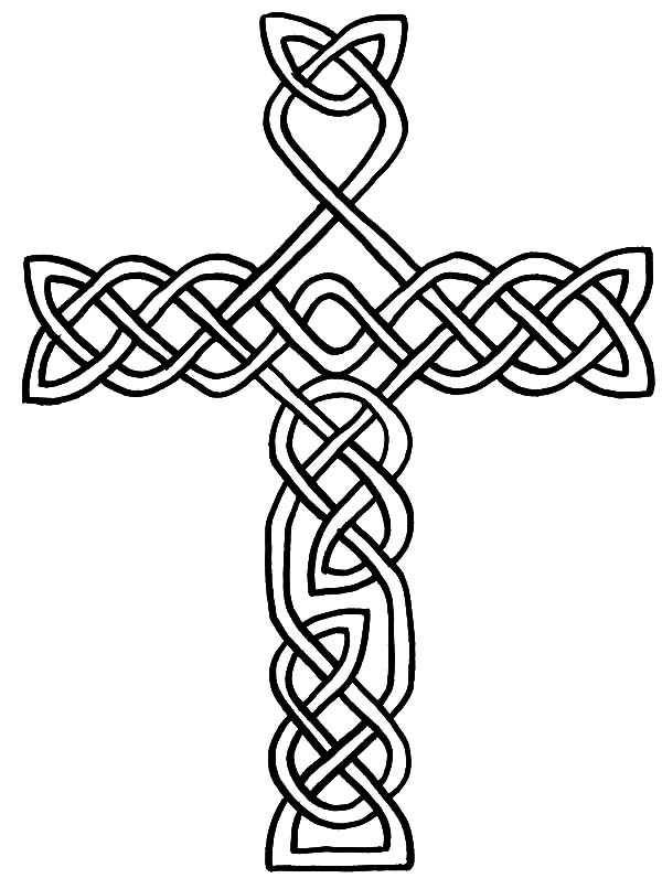 free coloring pages celtic cross - photo#26