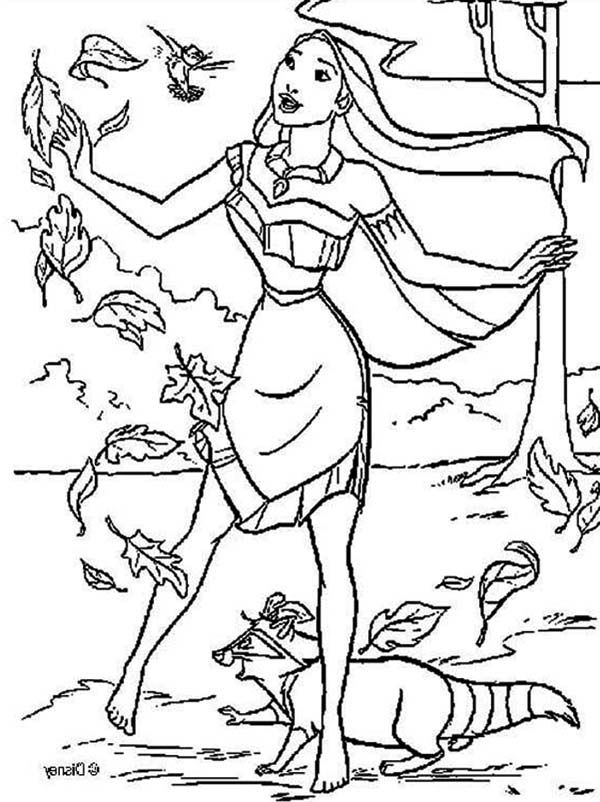 coloring pages pocahontas - photo#27