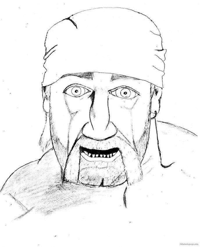 Hulk Hogan Coloring Pages - Coloring Home