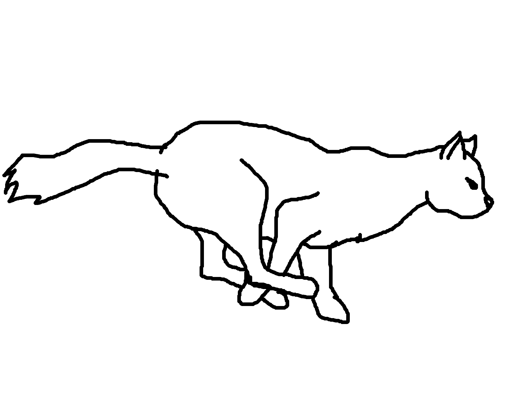 running cat coloring page coloring home