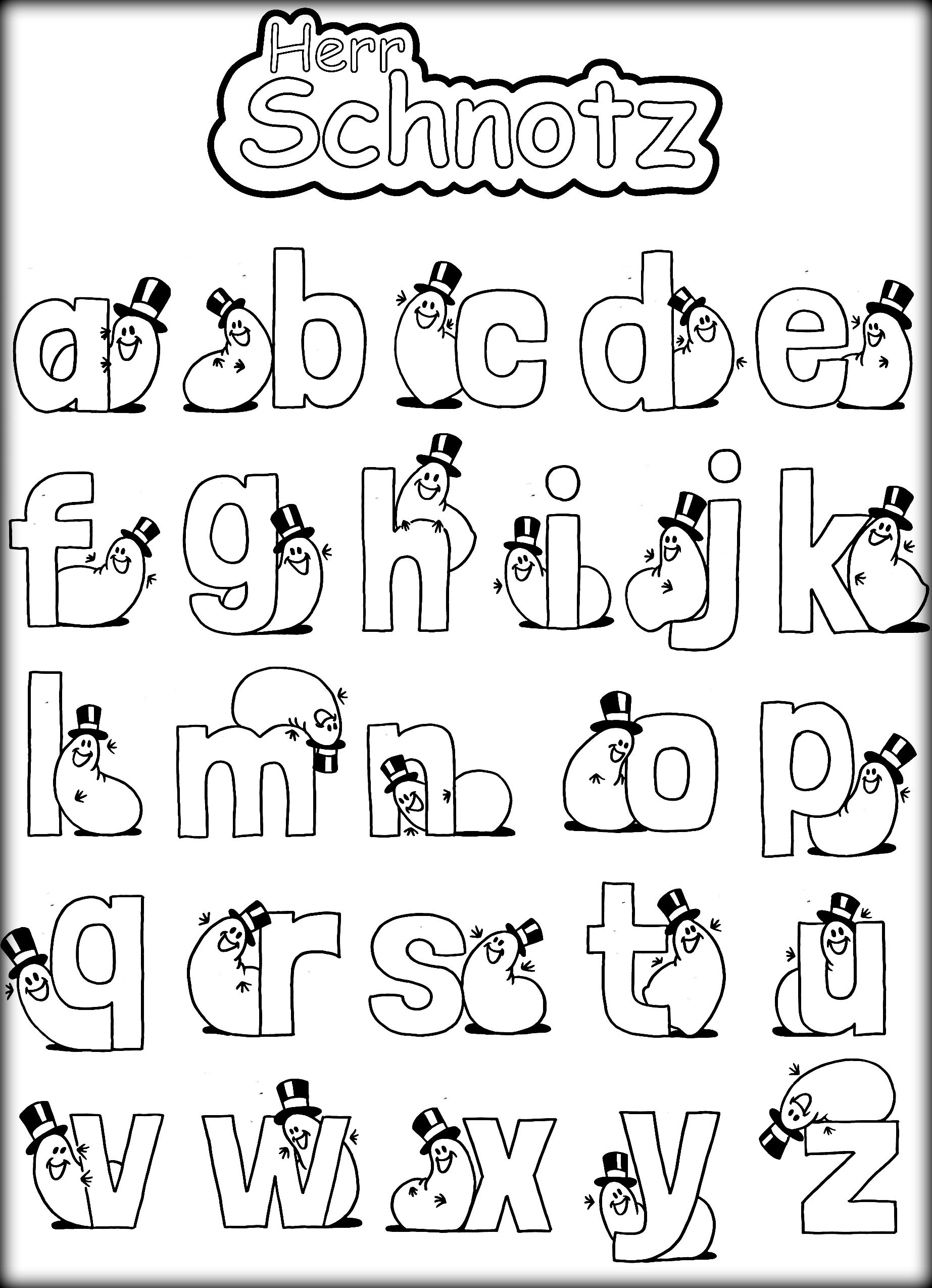 - Alphabet With Funny Letters Coloring Pages - Coloring Home