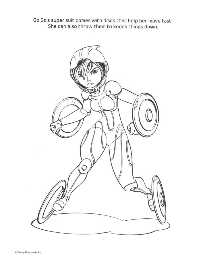 Coloring Pages For Big Hero 6 : Big hero coloring pages home