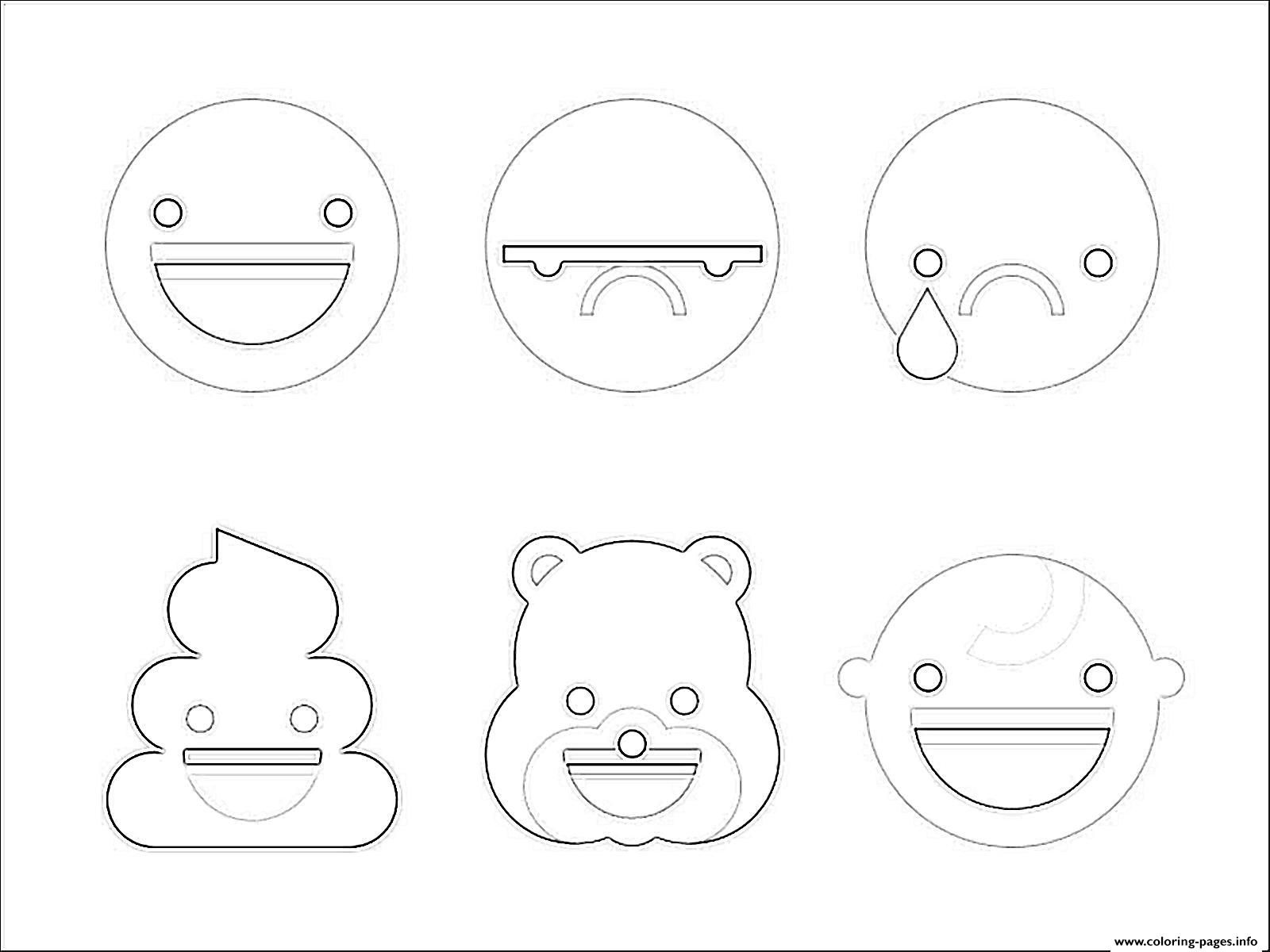 Emoji Coloring Pages - Coloring Home