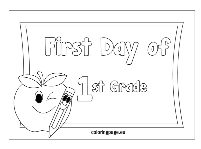 first grade coloring pages - photo#19