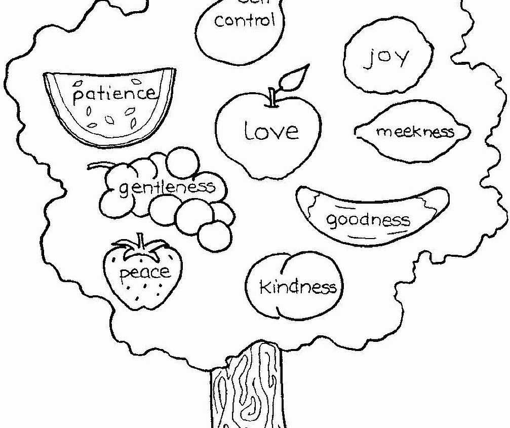 - Fruits Of The Spirit Coloring Page - Coloring Home
