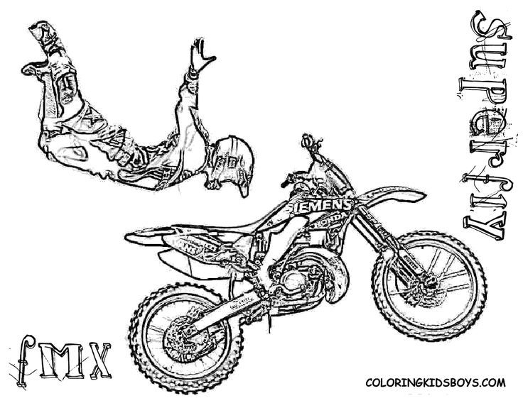 Motorcycle Coloring Pages Pdf : Dirt bike coloring pages for kids and