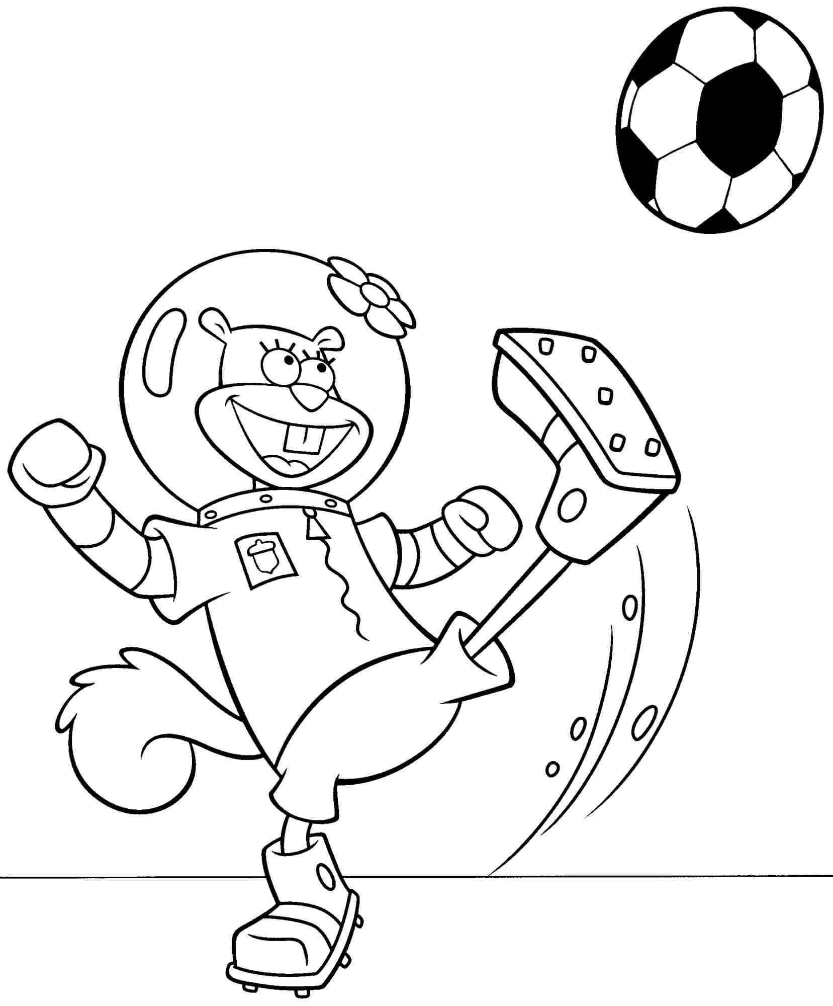 Spongebob Sandy Coloring Pages Of Movie Out Water Sketch ...
