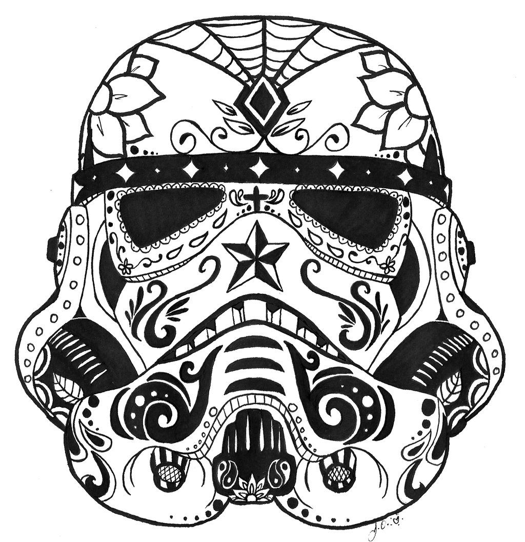 13 Pics of Star Wars Sugar Skulls Coloring Pages - Star Wars Sugar ...