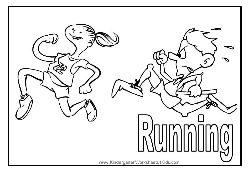 11 Pics Of Children Running Coloring Pages