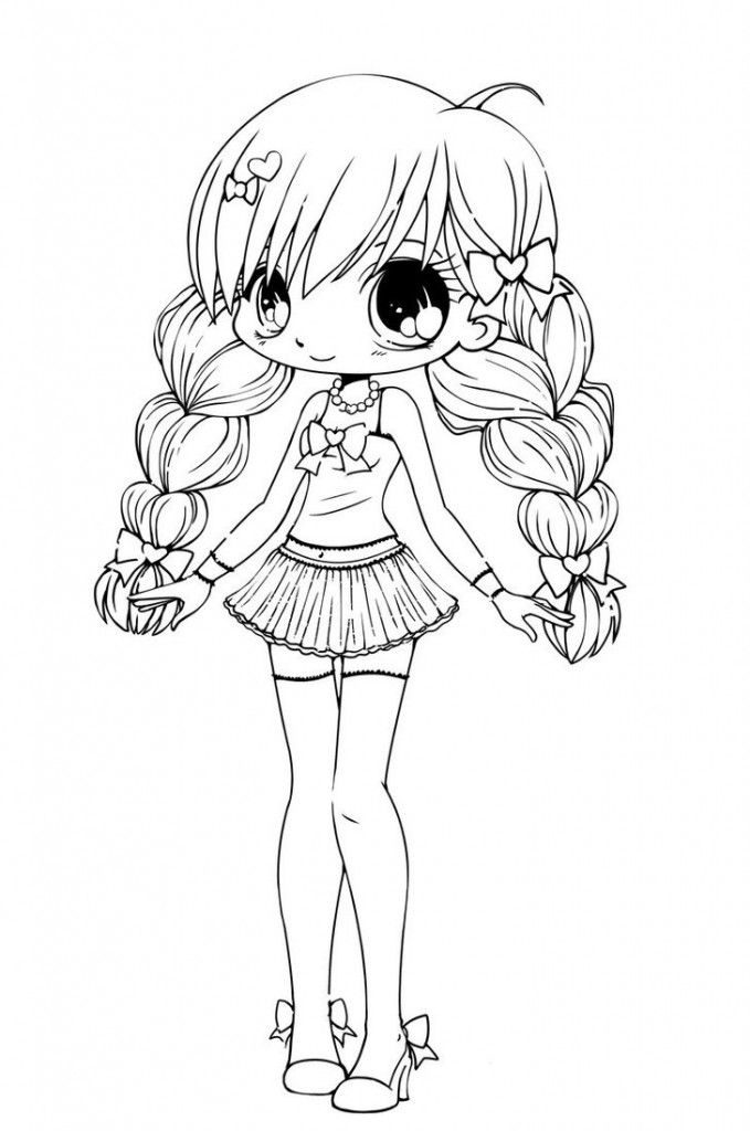 13 Pics Of Easy Chibi Girl Coloring Pages - How To Draw Tangled ...