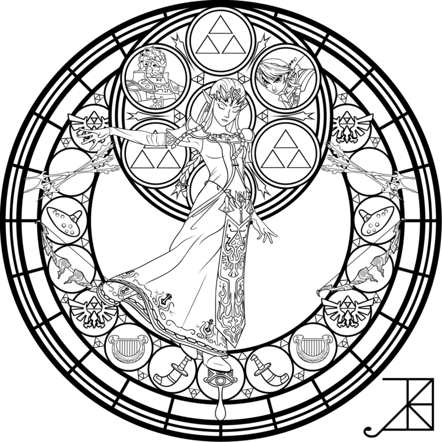 Christmas Stained Glass Window Coloring Pages For Kids And For
