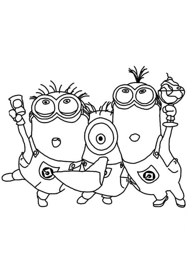 Phil and Stuart The Minion Coloring Page: Phil and Stuart The ...