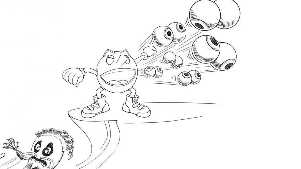 Pac Man And Ghostly Adventures Coloring Pages Sketch Coloring Page Coloring Home