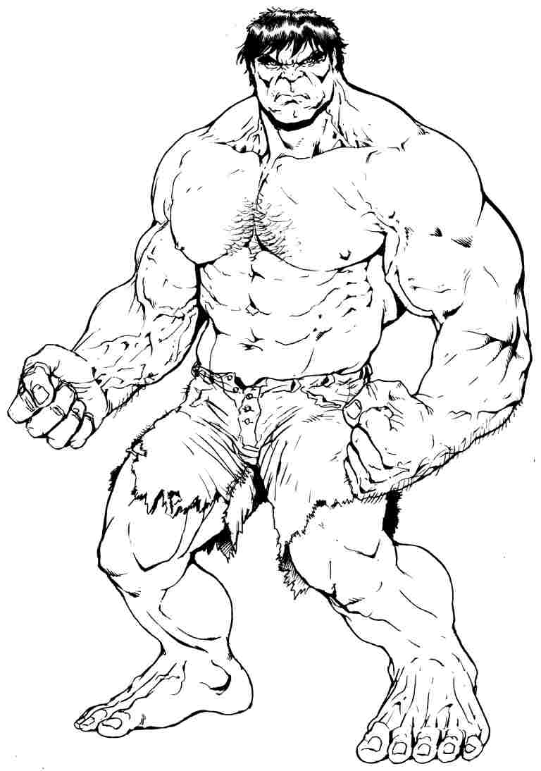 The Hulk Color Page Coloring Pages For Kids Cartoon Characters Coloring Home