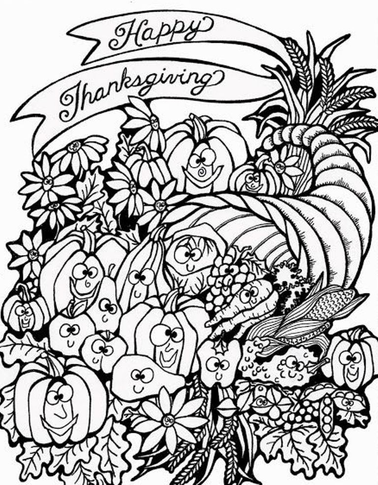 Thanksgiving Harvest Coloring Pages