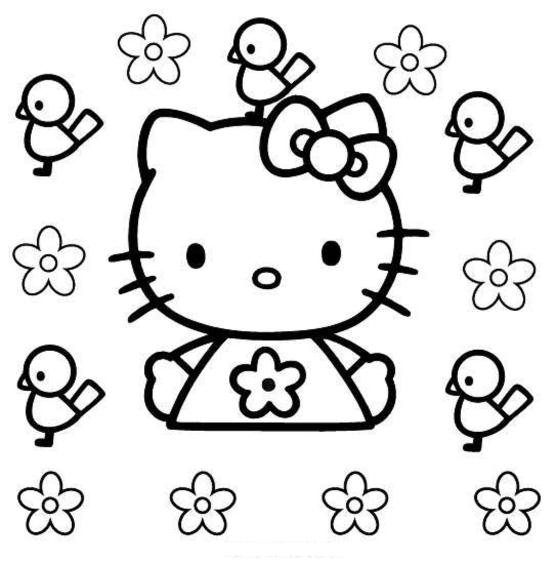 flower coloring page for kindergarten flower coloring pages for ...