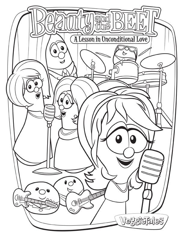 Veggietales coloring page coloring home for Veggie tales printable coloring pages