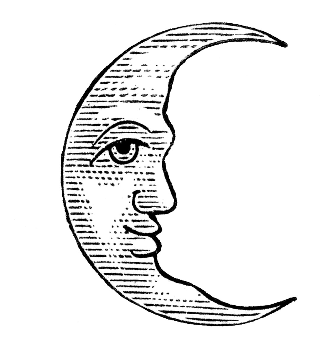 Moon Coloring Page - Coloring Home